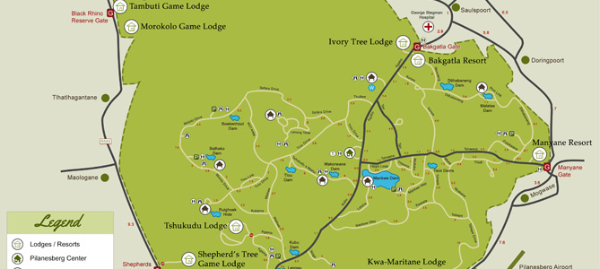 Pilanesberg Map